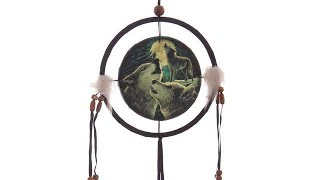 Yhon Soto Solutions - Novelty Gift Decorative Fantasy Wolf Family Dreamcatcher Small