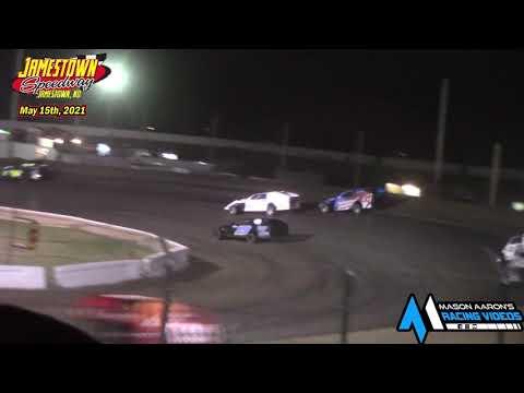 Jamestown Speedway IMCA Modified A-Main (5/15/21) - dirt track racing video image