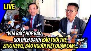 """""""Vua Rác"""" David Dương họp báo: Gọi đích danh báo Tuổi Trẻ, Zing News, báo Người Việt"""