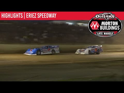 World of Outlaws Morton Building Late Models at Eriez Speedway August 22, 2021 | HIGHLIGHTS - dirt track racing video image