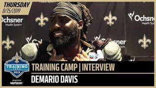 Demario Davis from Day 1 of Saints-Chargers Joint Training Camp Practice | New Orleans Saints