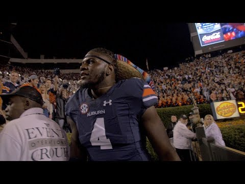 """In 2013, there was the miracle in Jordan-Hare. In 2017, there was a party in Jordan-Hare. Auburn upsets #1 Georgia 40-17 in a dominant performance. """"This is why you play college football,"""" Jarrett Stidham explains."""