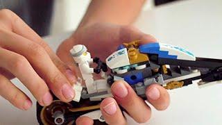 LEGO NINJAGO Legacy Kai's Blade Cycle & Zane's Snowmobile 70667 Building Kit (376 Pieces)