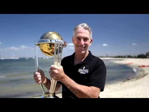 Damien Fleming joins the CWC Trophy Tour in Melbourne!