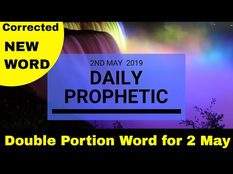 Daily Prophetic   Extra Word 2 May 2019