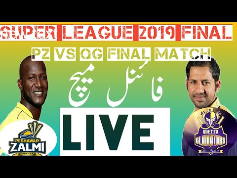 Pakistan SUPER LEAGUE FINAL LIVE TODAY/QUETA VS PESHAWR LIVE