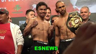 Manny Pacquiao vs Keith Thurman Who Looks In Better Shape?  EsNews Boxing