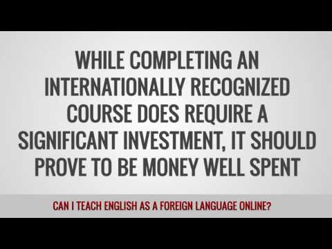 video answering if you can teach English online or not