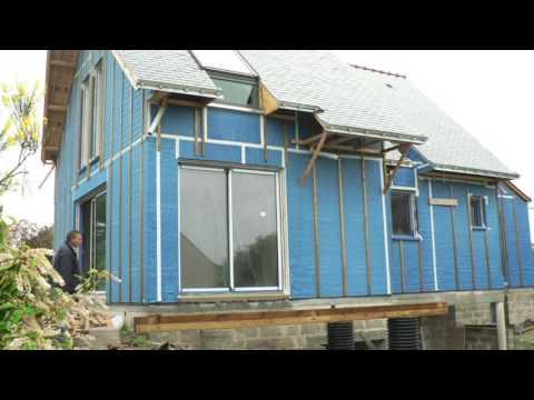 Carnet de chantier N°7; maison bioclimatique à Baden-a typique Patrice BIDEAU