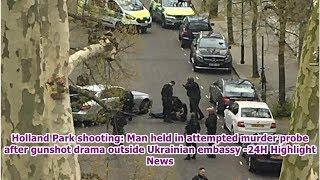 Holland Park shooting: Man held in attempted murder probe after gunshot drama outside Ukrainian e...