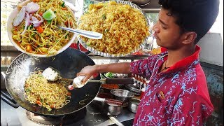 Hyderabadi Spicy Double Egg Noodles Roadside Food   Only 40 Rs Per Plate   Street Food Hyderabad