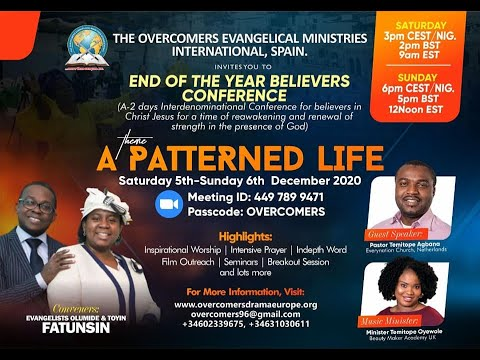 END OF THE YEAR BELIEVERS CONFERENCE DAY 1