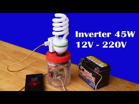 How to make easy mini inverter 12V to 220V Circuit 45W - default