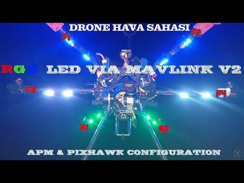 Pixhawk uçuş kartıyla hexacopter yapımı -11,5- Mavlink kontrollü RGB led şerit V2 (6 Kanal)