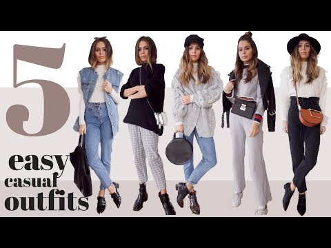 5 SIMPLE & CASUAL WEEKEND OUTFITS | LOOKBOOK - UCrB-gI1aOqz4PQJN7HA_usg