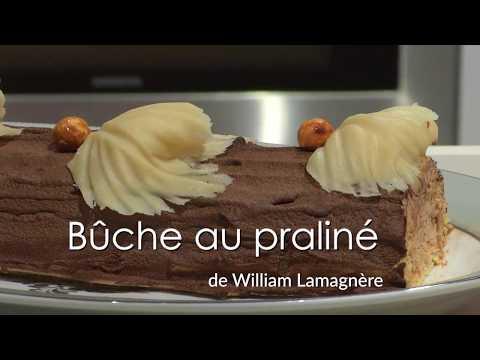 La bûche au praliné de William Lamagnère