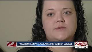 Paramedic raising awareness for veteran suicides