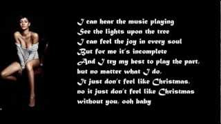 I Just Don't Feel Like Christmas Without You / with lyrics on screen