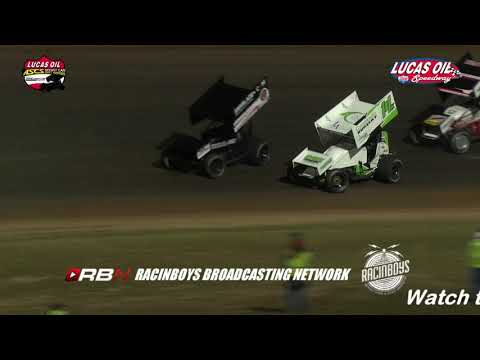 Highlights of the American Sprint Car Series National Tour from Night One of the Jesse Hockett / Daniel McMillin Memorial from Lucas Oil Speedway in Wheatland MO. Watch this race and hundreds of others in their entirety by becoming a RacinBoys premium member. Only $6.50 a month or $50 a year. Join Today at Racinboys.com - dirt track racing video image