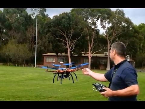 s550 Spider Hexacopter RTL test in stiff wind and new 10x47 Triple Props NAZA Lite - UCIJy-7eGNUaUZkByZF9w0ww