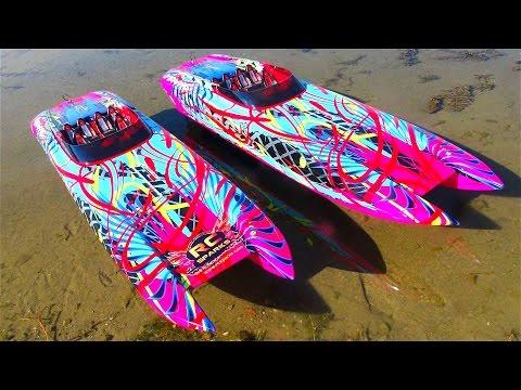 "UNBOXiNG Two 6s 50mph Traxxas M41 Widebody 40"" Catamaran Radio Control Race Boats | RC ADVENTURES - UCxcjVHL-2o3D6Q9esu05a1Q"