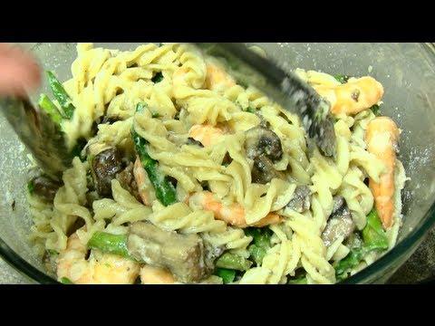 Asparagus, mushroom, shrimp PASTA! - UCX0kj_Hz-VY22eX9quwhwcA