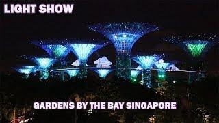 GARDENS BY THE BAY SINGAPORE LIGHT SHOW | SINGAPORE TRAVEL VLOG