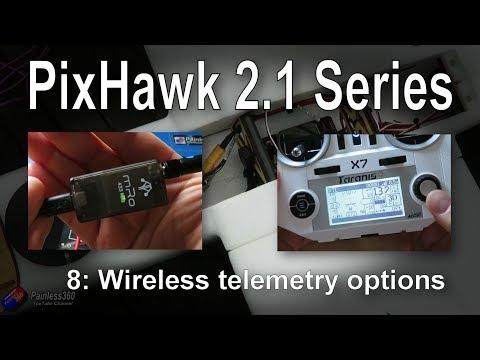 (8/9) Introduction to PixHawk 2.1: Wireless temetry options (3DR Radios and FlightDeck) - UCp1vASX-fg959vRc1xowqpw