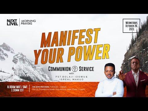 Next Level Prayers  Manifest Your Power  Pst Bolaji Idowu  20th October 2021