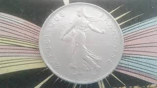 Coin of French 5 francs semeuse O.Roty 1978  coin value