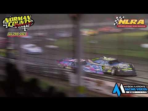 Norman County Raceway NLRA WISSOTA Late Model A-Main (7/29/21) - dirt track racing video image