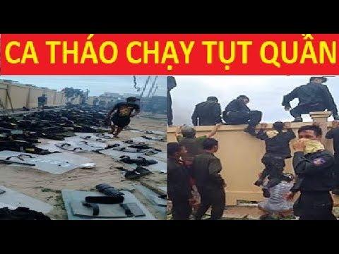 Bình Thuận vỡ trận CA, CS cơ động quăng mũ giáp chạy trối chết