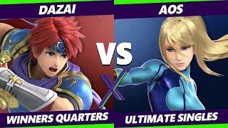 Smash Ultimate Tournament - BG   Dazai (Roy) Vs. AoS (Zero Suit Samus) S@X 316 SSBU Winners Quarters