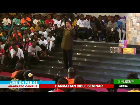 WATCH THE HARMATTAN BIBLE SEMINAR, LIVE FROM THE ANAGKAZO CAMPUS - GHANA. DAY 4 SESSION 2.
