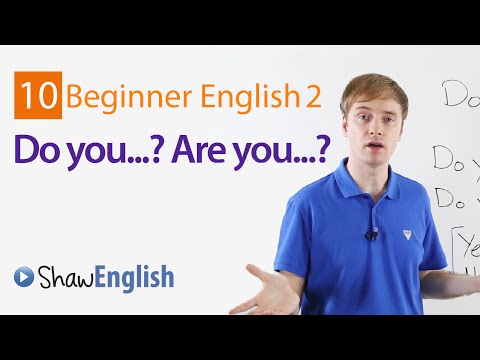 Do you    Are you    English Questions