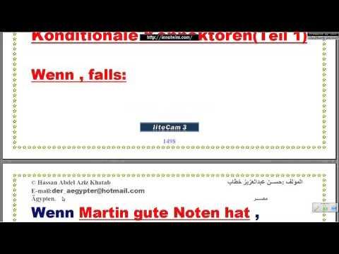 Lektion291a  konditionale Konnektoren أدوات الوصل الشرطية – تعليم اللغة الألمانية