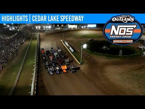 World of Outlaws NOS Energy Drink Sprint Cars at Cedar Lake Speedway, July 3, 2021   HIGHLIGHTS - dirt track racing video image
