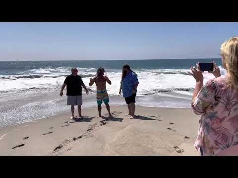 Paul Begley Baptizes Tonan at Venice Beach, California