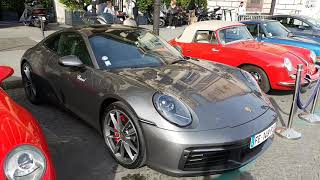 NEW TOP 2019 porsche 992 carrera S and old porsche 993 turbo and older in PAris France