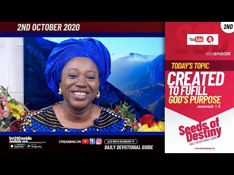 Dr Becky Paul-Enenche - SEEDS OF DESTINY - FRIDAY OCTOBER 2, 2020