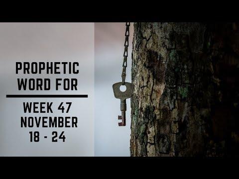 Prophetic Word for this Week   18 November 2019