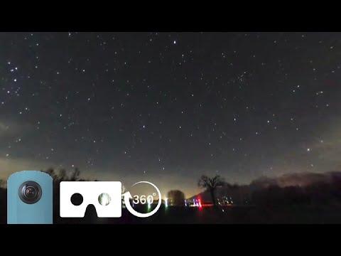 野辺山 星空タイムラプス VR Starry Night Sky 【THETA SC】