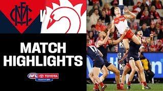 Melbourne v Sydney Match Highlights | Round 22, 2019 | AFL