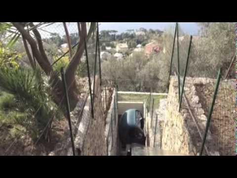 Liguria - Impianto privato rettilineo lunghezza 25 mt, pendenza 50° . Completamente a batteria