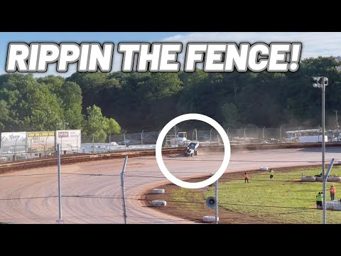 Tanner Holmes ON THE FENCE QUALIFYING At Sharon Speedway! (410 Sprint Car) - dirt track racing video image
