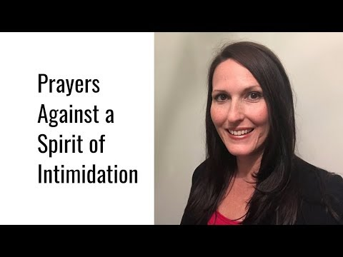 Prayers Against a Spirit of Intimidation