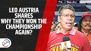 SMB Champion Again, Why? | Leo Austria Explains the Turning Point , Shares Thoughts om Grand Slam
