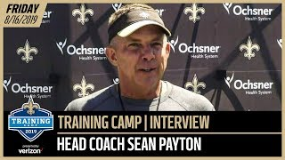 Sean Payton from Day 2 of Saints-Chargers Joint Practices | New Orleans Saints