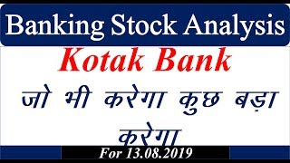 Banking Stock analysiss 13.08.2019 #Nifty #Banknifty #Mtech