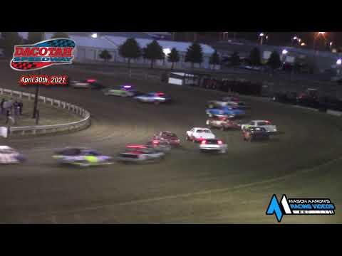 Dacotah Speedway Hobby Stock A-Main (4/30/21) - dirt track racing video image